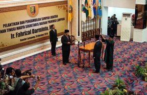 Fahrizal resmi menjabat Sekdaprov