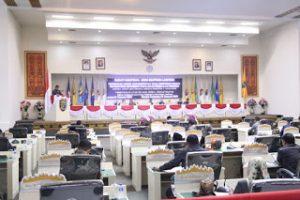 DPRD Lampung menggelar rapat paripurna penyampaian hasil kinerja Panitia Khusus Bank Lampung dan Infrastruktur,