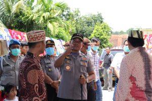 Mengantisipasi Penyebaran Wabah Virus Corona Kapolres Lampung Barat Bubarkan Resepsi Pernikahan Anak Penjabat