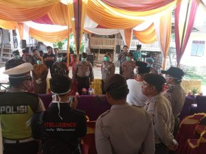 Tindak Lanjut Maklumat Kapolri, Polri -TNI dan Dinas Terkait Bubarkan Acara Resepsi Pernikahan di Pesisir Barat