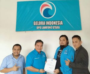 Perkuat Struktur DPW Partai Gelora Lampung, Kunjungi  DPD Lampung Utara