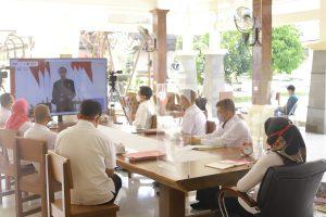 Winarti mengikuti kegiatan Aksi Nasional Pencegahan Korupsi (ANPK) secara daring yg dilaksanakan oleh KPK RI