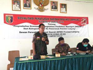 Ketua DPRD Provinsi Lampung Mingrum Gumay Gelar Sosperda Nomor 9 Tahun 2016