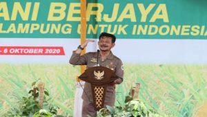 Mentan Syahrul Yasin Limpo dan Gubernur Arinal Djunaidi Lakukan Launching Kartu Petani Berjaya