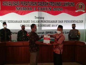 Ketua DPRD Provinsi Lampung Gelar Sosper, Minta Masyarakat Terapkan ProKes
