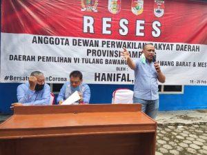 Serap Aspirasi masyarakat Menggala Selatan Anggota DPRD Lampung Hanipal SP turun langsung temui konsituen