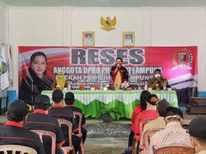 Anggota DPRD Lampung Ni Ketut Dewi Langsungkan Kegiatan Reses