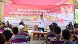 Komisi 2 DPRD Provinsi Lampung I Made Bagiasa Sosialisasi Ideologi Pancasila dan Wawasan Kebangsaan