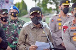 Ketua DPRD Lampung Mingrum Gumay Hadiri gelar pasukan Operasi Ketupat Krakatau 2021.