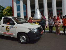 Pemerintah Kota Bandar Lampung Menyerahkan Kendaraan Operasional Kepada Basarnas Lampung
