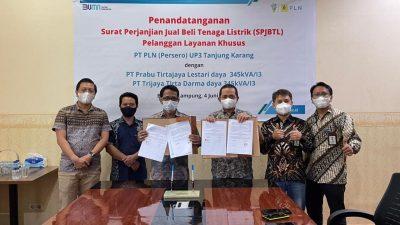 Dua Perusahaan Air Minum Kemasan Di Lampung Teken SPJBTL, PLN Hadirkan Layanan Premium