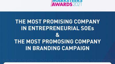 "MarkPlus, Inc gelar ajang BUMN Marketeers Award 2021, ASDP Raih ""The Most Promising Company in Entrepreneurial SOEs"" dan ""The Most Promising Company in Branding Campaign"