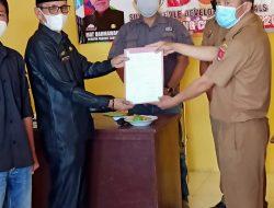Penyerahan Berita acara Pendataan SDGS Pekon Padang Cahya Lambar