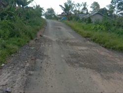 Pekerjaan tambal sulam asal jadi di jalan sekincau waspada Lambar