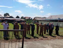 Pekon Padang Cahya Peringati HUT RI Ke 76 dengan prokes Protokol Kesehatan Covid- 19 .
