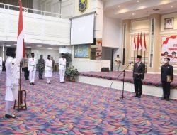 Sekdaprov Fahrizal Kukuhkan Pasukan Pengibar Duplikat Bendera Pusaka Provinsi Lampung