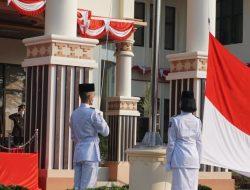 Bupati NNanang Pimpin HUT RI ke 76 yang digelar secara Sederhan