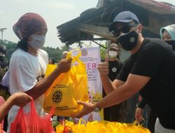 DPP IKAPTK Lampung Bagikan Sembako, dan Bedah Rumah untuk Warga Terdampak Covid19