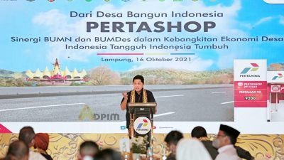 Menteri BUMN Erick Thohir ungkap, Di Provinsi Lampung telah berdiri 206 Pertashop