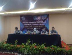 Sosialisasi Implementasi MBKM di Prodi Teknik Mesin, Universitas Lampung  dalam Rangka Hibah CoE MBKM Belmawa Dikti